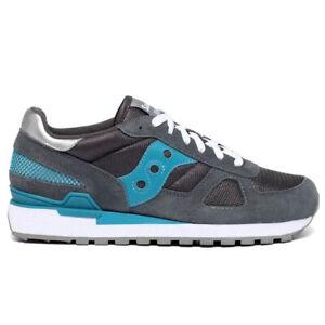 Saucony shadow uomo 43 42 40 44 46 grigio scuro scarpe sneaker sportive original