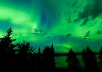 Awesome Northern Lights Poster Print Size A4 / A3 Nature Art Poster Gift #8579
