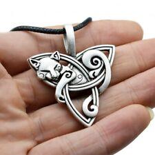 Collar De Gato Trinity Nudo Celta Colgante Amuleto grande Punk Vikingo Joyas de animales