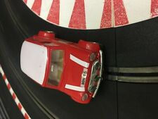 SCALEXTRIC Mini cooper  white red   new rear tyres & pinion