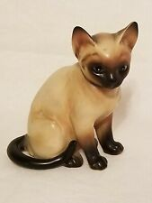 Vintage Siamese Cat Figurine Collectible H4032