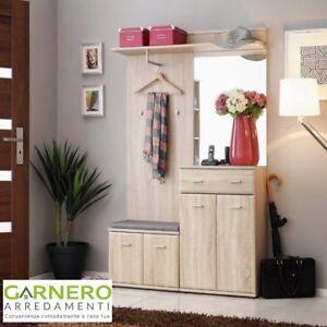 Mobili ingresso SAN FRANCISCO Gihome ® quercia, design contemporaneo ed elegante