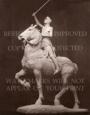 Joan of Arc sculpture painting photo lot sword armor horse France burning stake