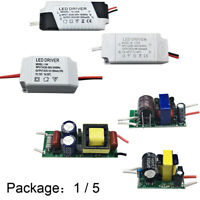 1X5X 1-36W LED Driver Constant Current AC-DC 85V-265V Adapter supply transformer