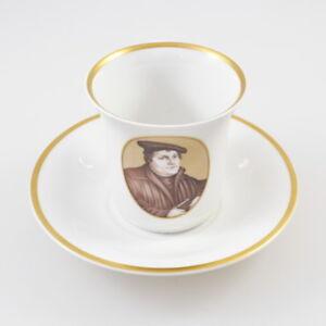 KPM - alte Kaffeetasse & Untertasse - 450 Jahre Martin Luther 1483 1933 - Zepter