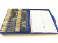 100 PCS Prepared Specimen Microscope Slides: Histology, Botany, Protists,Insect