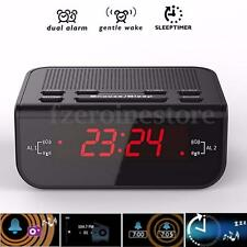 Bedside CR 246 LED Digital FM Radio Dual Mode Alarm Clock Buzzer Snooze Function