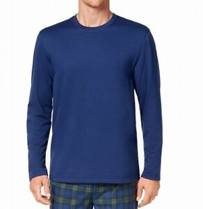 Club Room Mens Sleepwear Hunter Blue Size Large L Fleece Pajama Top $32 189