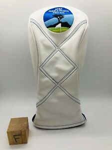 AT&T Pebble Beach Pro Am Golf Links White Leather 3 Wood Fairway Headcover Mint
