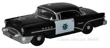 Oxford 1955 Buick Century CHP Black/White Die-Cast Metal Car 1/87 HO Scale