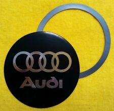 Magnetic Tax Disc & Permit Holder Black with Chrome effect logo fits audi