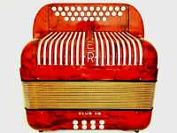 AKKORDEON HOHNER CLUB IIB II B KNOPFAKKORDEON TOP ZUSTAND C/F ACCORDION  HOHNER
