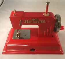 Red Vintage KAYanEE Sew-Master Toy Sewing Machine Made In Germany Berlin US Zone