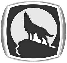 HOWLING WOLF IN MOON STAINLESS STEEL RING size 8 silver metal S-512 NEW wolves