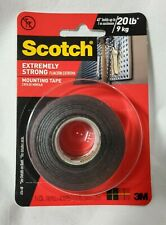 """New listing Scotch Extremely Strong Mounting Tape ~ 1"""" x 48"""" ~ Indoor/Outdoor"""