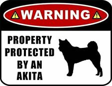 Warning Property Protected by a Akita (SILHOUETTE) Laminated Dog Sign