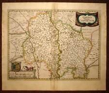 carte geographique ancienne REGION DU QUERCY ou LOT par HONDIUS 1633