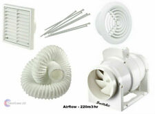 Bathroom Shower Fan Kit Loft Ceiling Mounted Extractor Duct Vent Sofit Timer Std