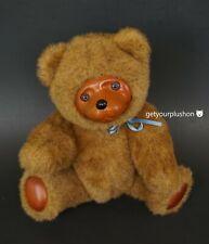 WOOD FACE JOINTED PLUSH TEDDY BEAR APPLAUSE RAIKES BEARS 1985