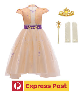 Kids Girls Princess DRESS Up + ACCESSORY Costume ANNA FROZEN Party- EXPRESS POST