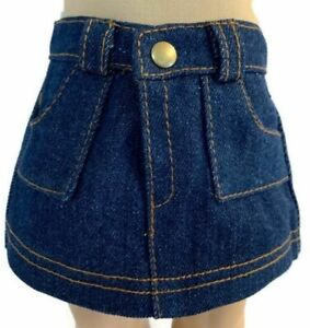 Mini Denim Jean Skirt made for 18 inch American Girl Doll Clothes