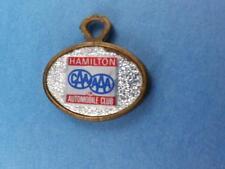 HAMILTON AUTOMOBILE CLUB CAA AAA LOST KEY RETURN KEY RING FOB KEYCHAIN VINTAGE