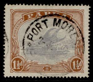 AUSTRALIA - Papua GV SG95, 1½d pale grey-blue, FINE USED.