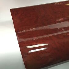 "Wood Grain adhesives Vinyl - 24""x10 feet Gloss Red Burled Wood GW3055"