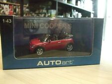 MINI COOPER S CABRIOLET ROADSTER COLOR IN RED  scale 1/43 by AutoArt 54849