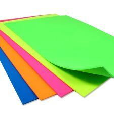 Neonfarbenes Moosgummi, super knallig, 5 Blatt, 2mm dick, 20cm x 29cm