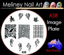 A38 Stamping Nail Art Image Plate Design Round XL Stencil metal Halloween