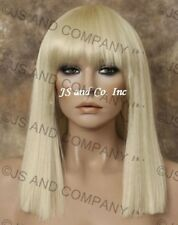 Blunt Bangs Straight Blonde hair with skin top top WBDC 613 lady gaga