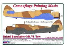 AML Models 1/72 CAMOUFLAGE PAINT MASKS BRISTOL BEAUFIGHTER Mk.VI LATE