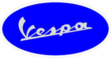 "#821 (1) 3.5"" Vespa Scooter Oval Vintage Logo Decal Scooter Stickers LAMINATED"