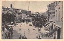9127) FABRIANO ANCONA PIAZZA GARIBALDI BANCARELLE VG. 1937.