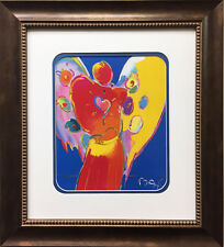 "Peter Max ""Angel With Heart"" NEWLY CUSTOM FRAMED Print Art POP psychedelic Neo"