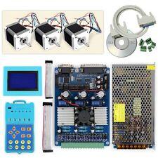 New CNC Standard 3Axis TB6560 Stepper Driver Full Kit & Motor/PSU/Keypad/Display