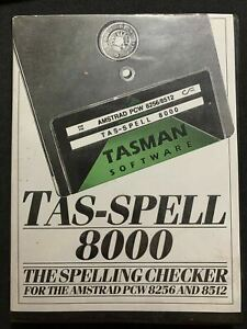 TAS-SPELL 8000 Spelling Checker For Amstrad PCW 8256 and 8512 (1986) Software