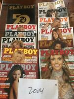 playboy magazines 2004 All 12 Issues 50th Anniversary Like New