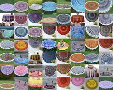 "50 Wholesale Lot Indian Round Mandala Beach Assorted Tapestry Yoga Mat Towel 49"""