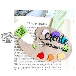 Metal Cutting Dies Scrapbook Paint Palette Handcrafts DIY Card Templates Gifts