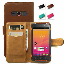 FOR Telstra Tough Max / ZTE T84 R84 New PU-Leather Wallet Fitted Case Cover