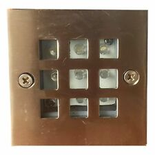 Outdoor recessed wall/deck brick Stainless Steel LED Brick Light. White LED IP44