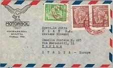 62256-BOLIVIA-STORIA POSTALE-POSTA AEREA copertura per l'Italia 1955