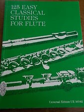 125 Classical Studies for FLUTE Sheet Music Book Universal Edition Frans Vester