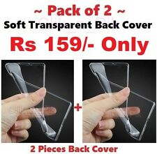 "~ PACK of 2 ~ Soft Transparent Back Cover For Panasonic Eluga Ray ( 5"" )"