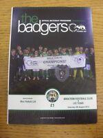 08/08/2015 Brocton v Lye Town  . Footy Progs/Bobfrankandelvis, experienced selle