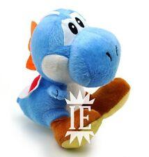 SUPER MARIO BROS. YOSHI BLU PELUCHE 17 CM PUPAZZO plush blue doll Bleu new wii u