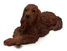 IRISH SETTER  DOG Mini Figurine Statue Hand Painted Resin Living Stone