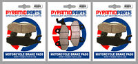 Front & Rear Brake Pads (3 Pairs) for Triumph 900 Trident 1991